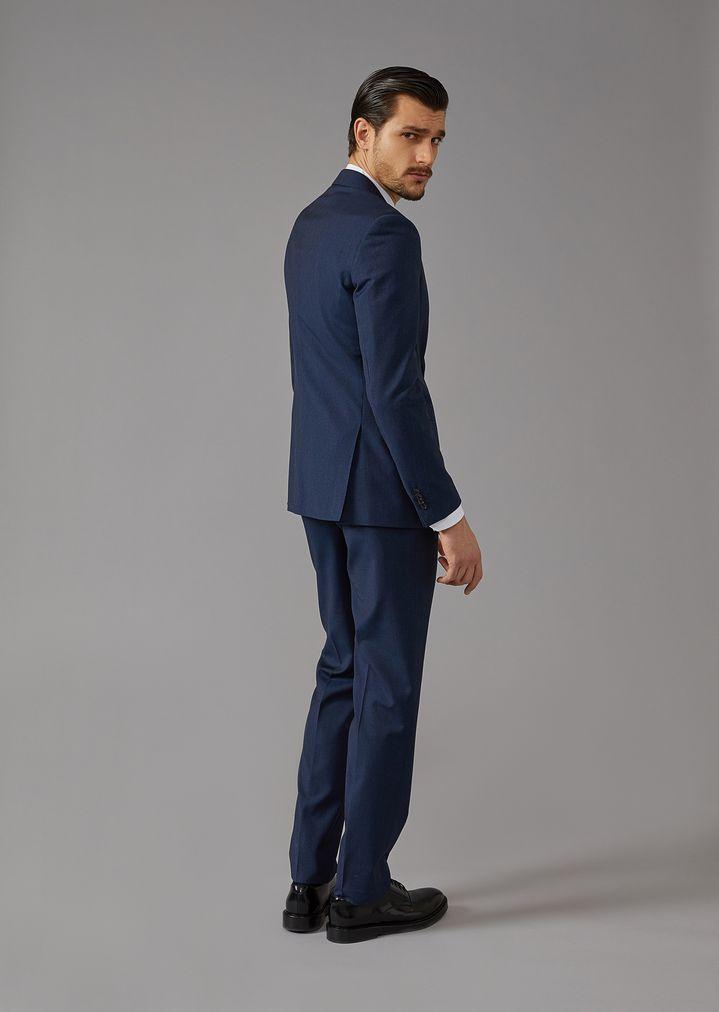 GIORGIO ARMANI Mouline twill Soho suit Suit Man r