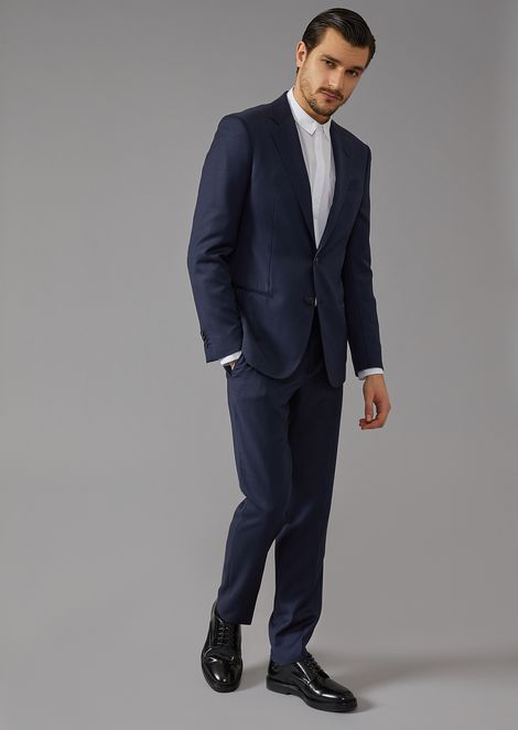 Micro-jacquard canvas Soho suit