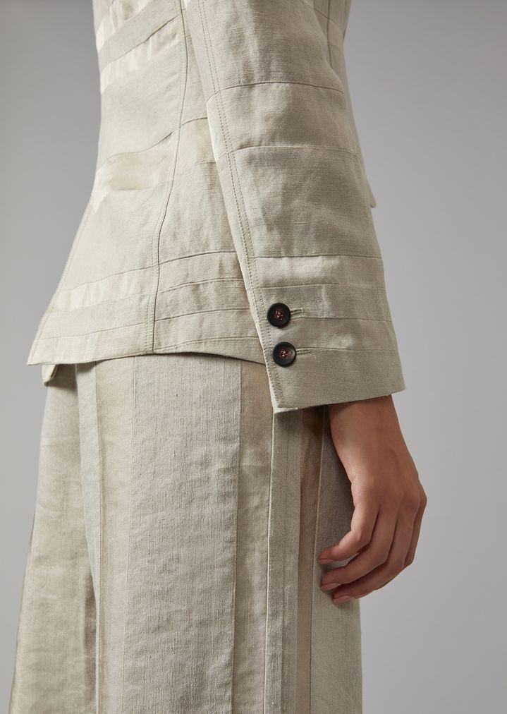 GIORGIO ARMANI Striped linen blend jacket Jacket Woman b