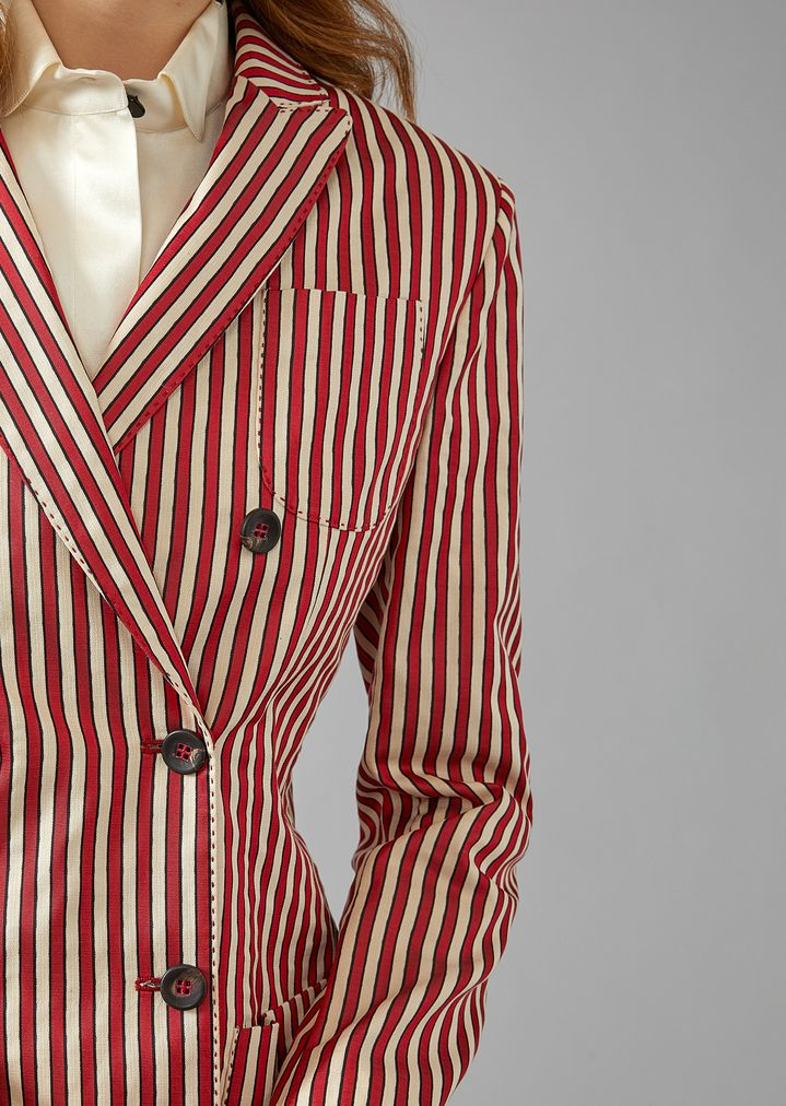 GIORGIO ARMANI Striped Canvas Jacket Jacket Woman b