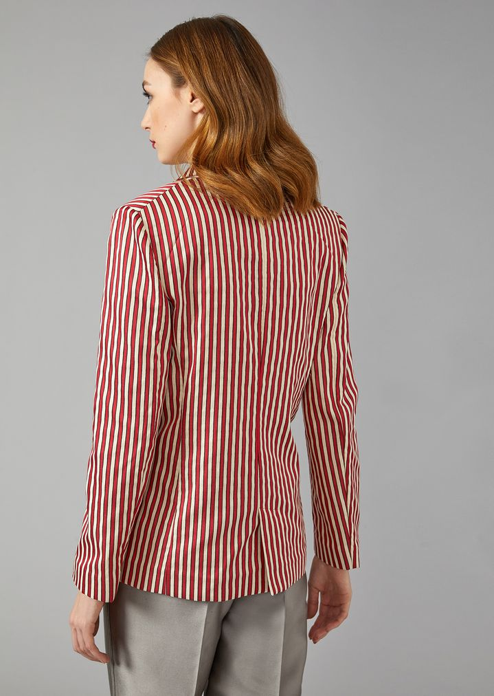 GIORGIO ARMANI Striped Canvas Jacket Jacket Woman e