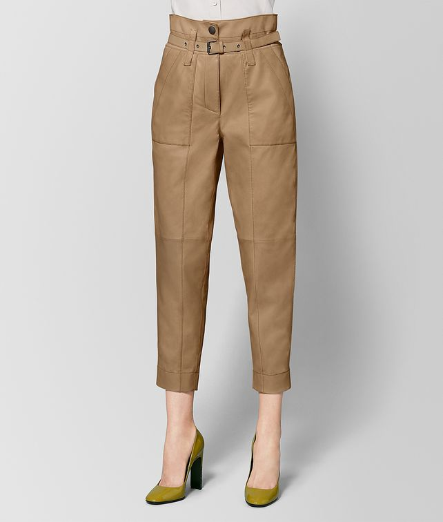 BOTTEGA VENETA CAMEL LAMB PANT Skirt or trouser Woman fp