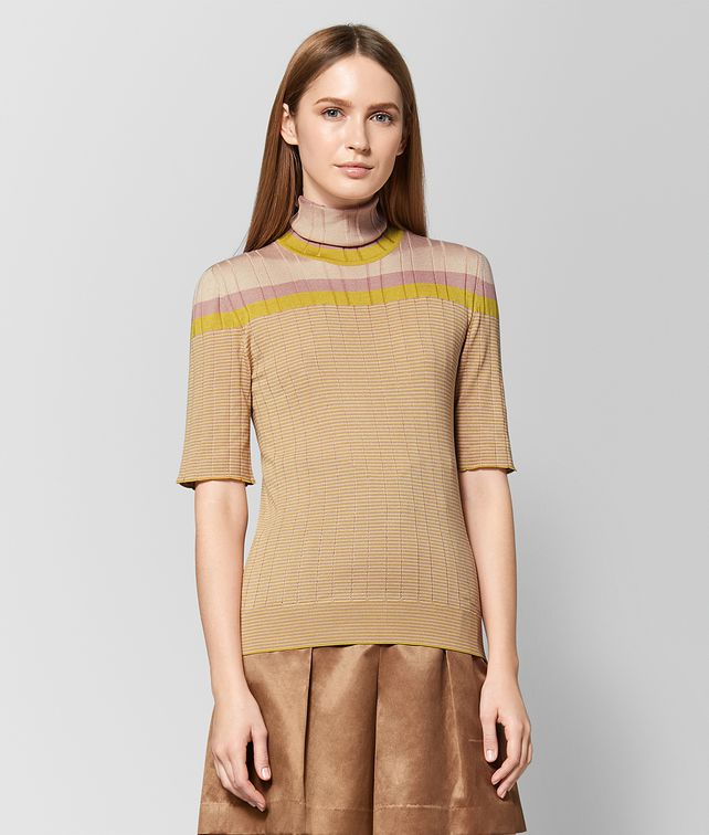 BOTTEGA VENETA CHAMOMILE SILK SWEATER Knitwear or Top or Shirt [*** pickupInStoreShipping_info ***] fp