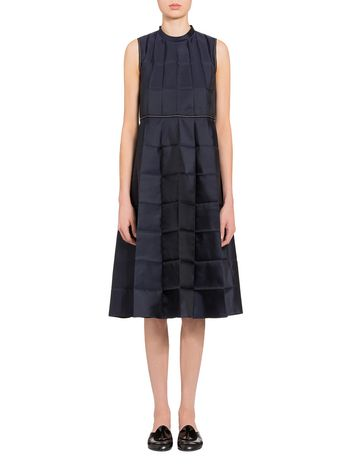 Marni Pleated dress in mikado silk Woman