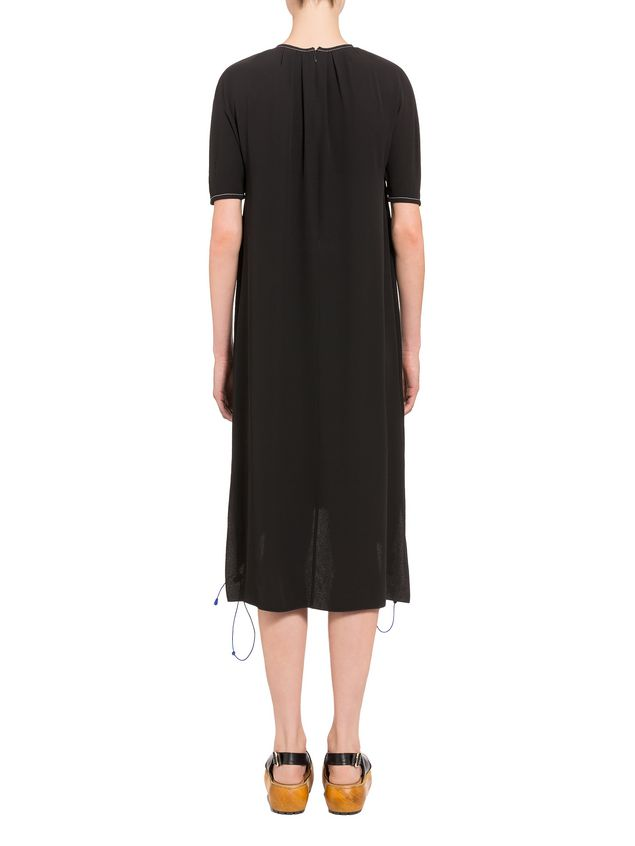 Marni Crepe-back satin dress with darts  Woman