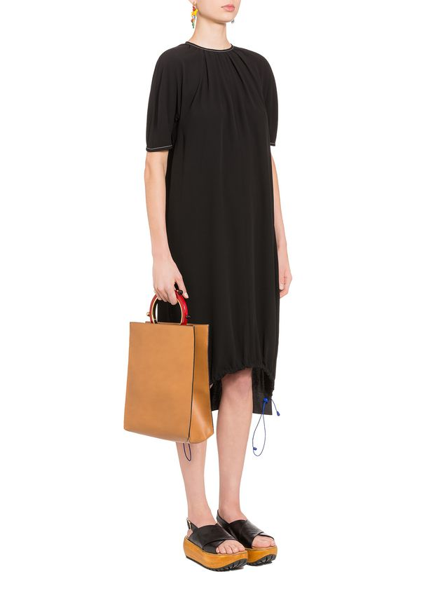 Marni Crepe-back satin dress with darts  Woman - 4