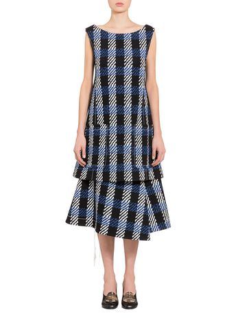 Marni Flared dress in bonded jacquard  Woman