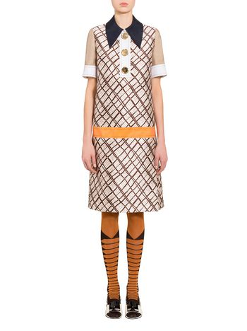 Marni Mikado dress Tartan print Woman