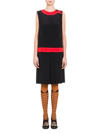 Marni Sleeveless dress in washed crepe Woman