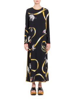 Marni Viscose dress with Frank Navin Cracker Jacks print Woman