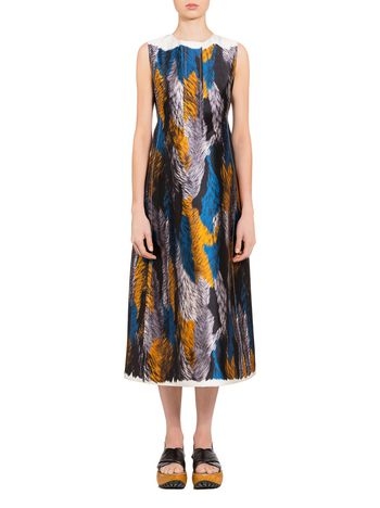 Marni Mikado dress Fuzzy print Woman