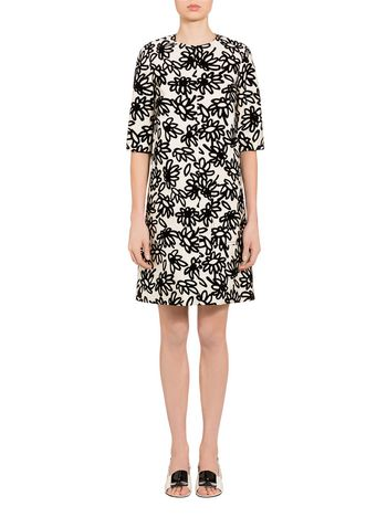 Marni Mikado dress Petals print by Frank Navin Woman