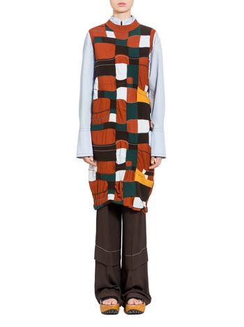 Marni Wool and cashmere dress with DADA intarsia Woman