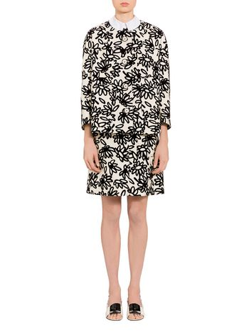 Marni Boxy jacket in mikado Petals print Woman