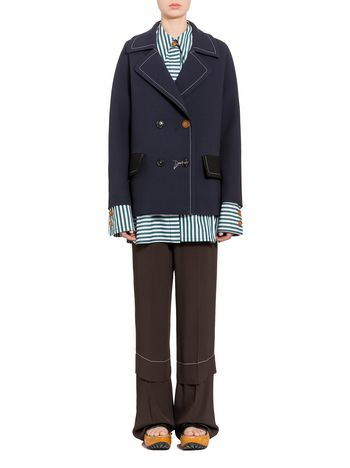 Marni Double-breasted jacket in crepe Woman
