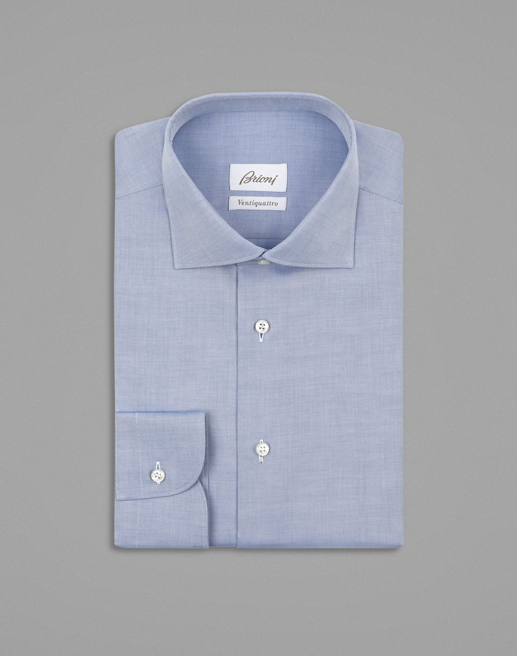BRIONI Bluette Twill Formal Shirt Formal shirt Man f
