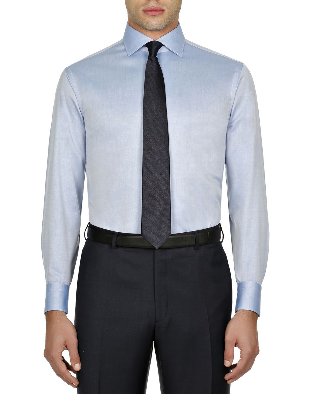 BRIONI Bluette Twill Formal Shirt Formal shirt Man r