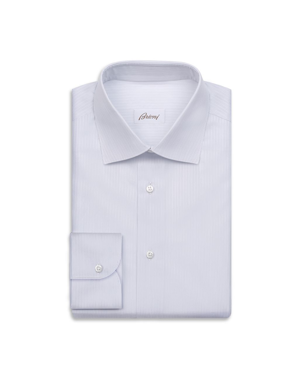BRIONI Lead and White Striped Shirt Formal shirt Man f