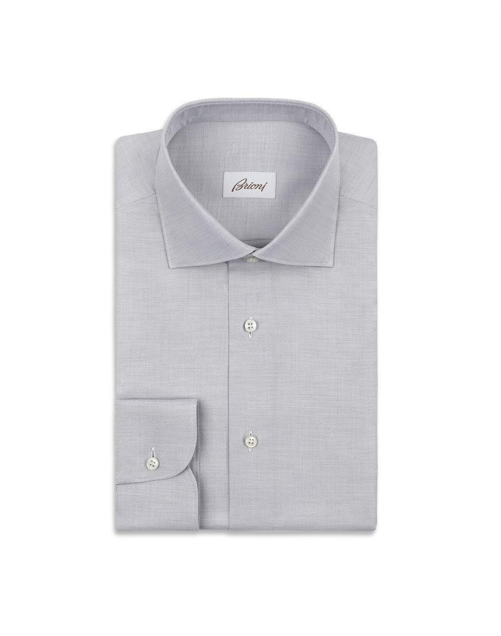 BRIONI Lead Micro Chevron Formal Shirt Formal shirt Man f