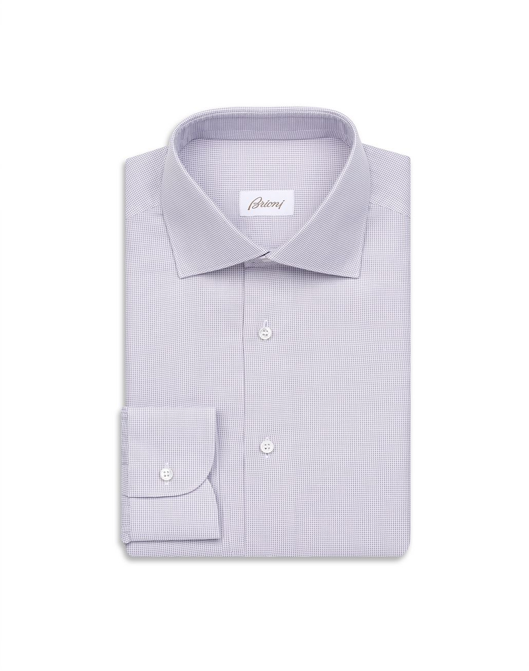BRIONI White and Rose Micro Design Shirt Formal shirt Man f