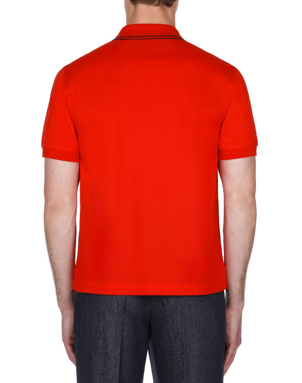 BRIONI Red Logoed Piquet Polo Shirt T-Shirts & Polos [*** pickupInStoreShippingNotGuaranteed_info ***] d