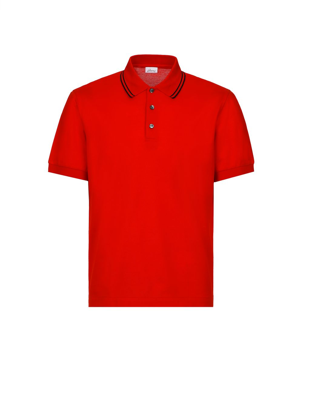 BRIONI Red Logoed Piquet Polo Shirt T-Shirts & Polos [*** pickupInStoreShippingNotGuaranteed_info ***] f