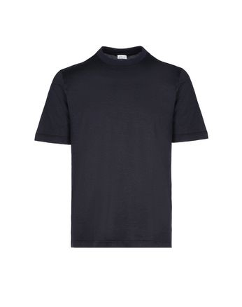 Navy Blue Jaquard T-Shirt