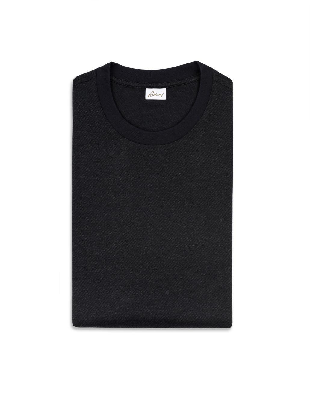 BRIONI Тёмно-синяя футболка с жаккардовым узором Футболки и поло Для Мужчин e