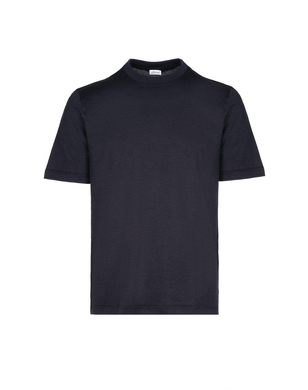 BRIONI Тёмно-синяя футболка с жаккардовым узором Футболки и поло [*** pickupInStoreShippingNotGuaranteed_info ***] f