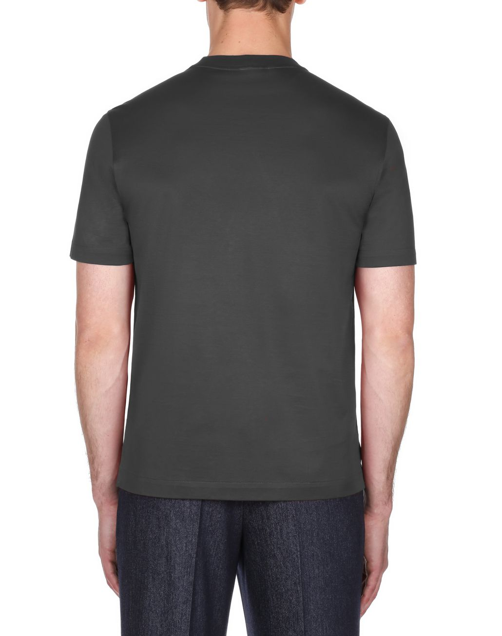 BRIONI Antrachite Logoed T-Shirt T-shirts & polos Homme d