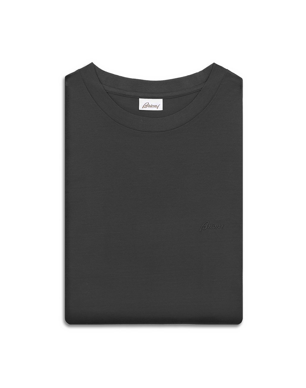 BRIONI Antrachite Logoed T-Shirt T-Shirts & Polos [*** pickupInStoreShippingNotGuaranteed_info ***] e