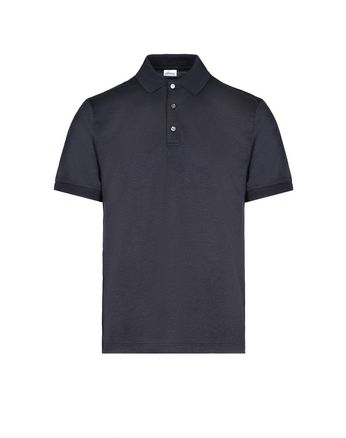 Navy Blue Jacquard Polo Shirt