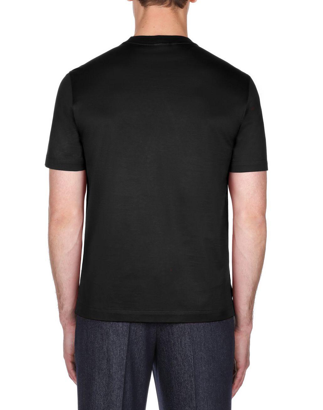 BRIONI Black Logoed T-Shirt T-Shirts & Polos Man d