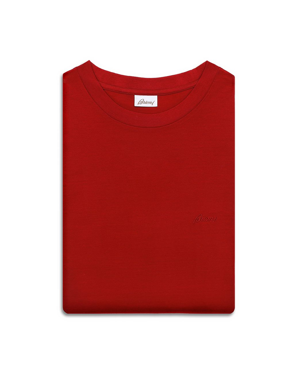 BRIONI Red Logoed T-Shirt T-shirts & polos Homme e