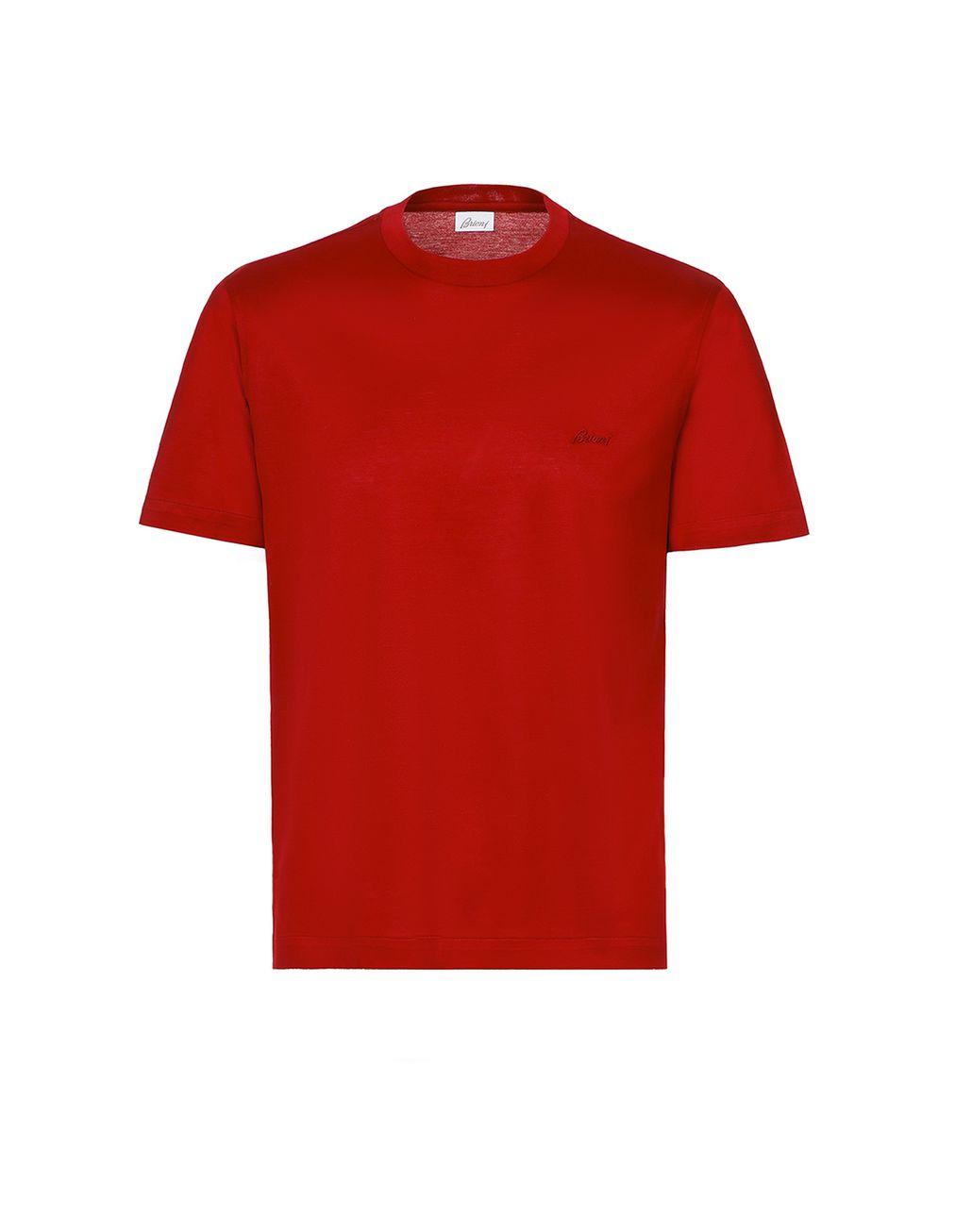 BRIONI Red Logoed T-Shirt T-Shirts & Polos Man f