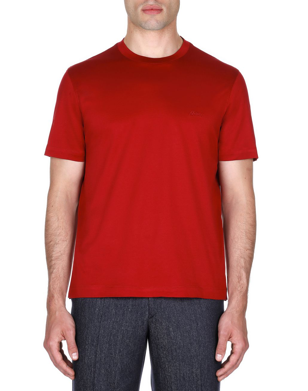 BRIONI Red Logoed T-Shirt T-shirts & polos Homme r