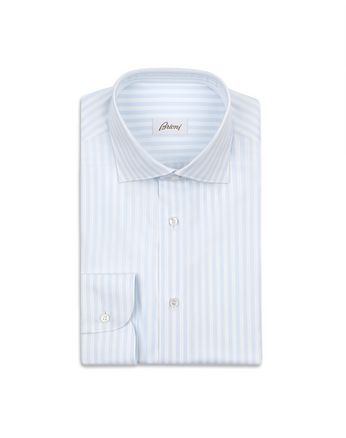 Sky Blue and White Striped Shirt