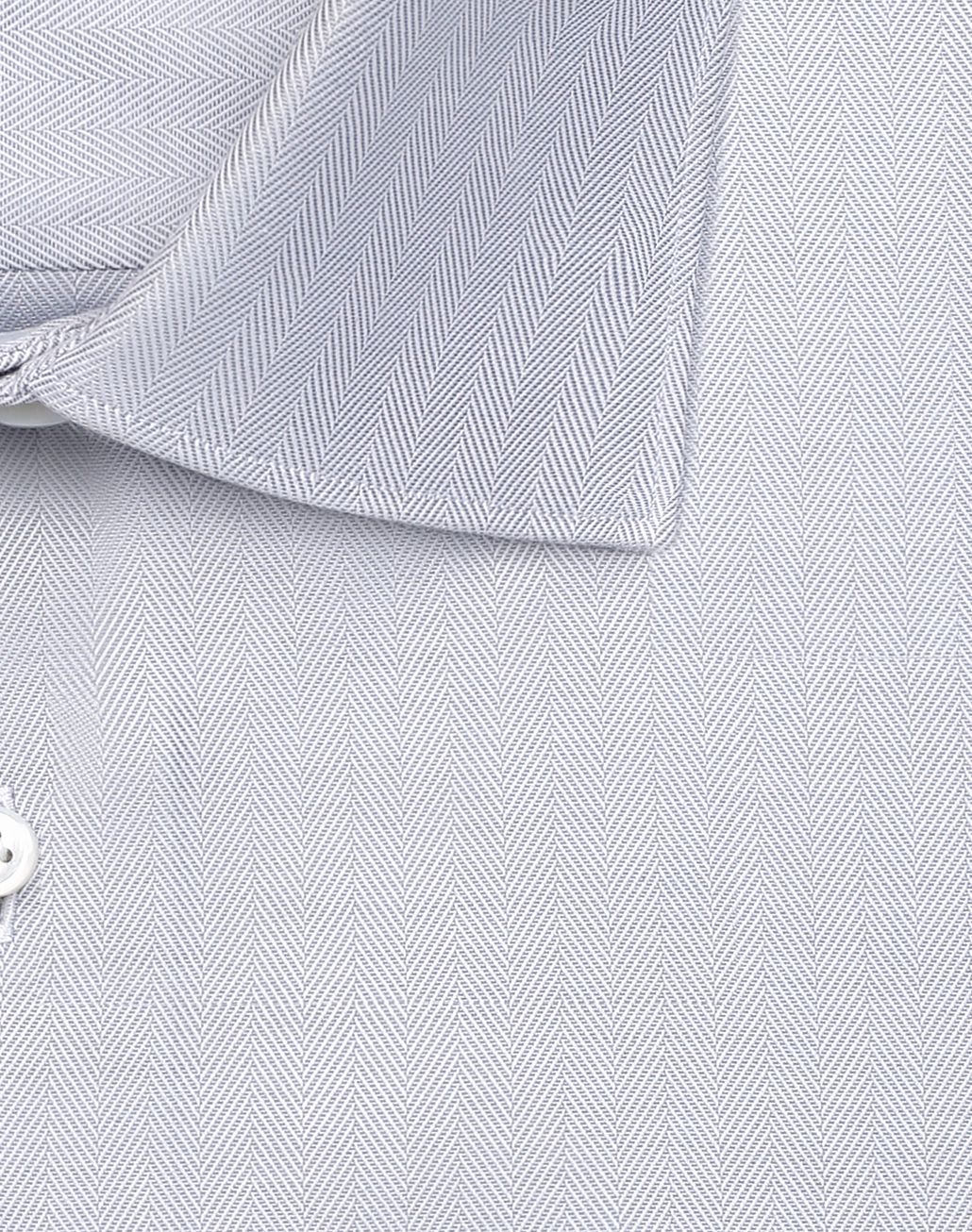 BRIONI White and Lead Herringbone Shirt Formal shirt Man e