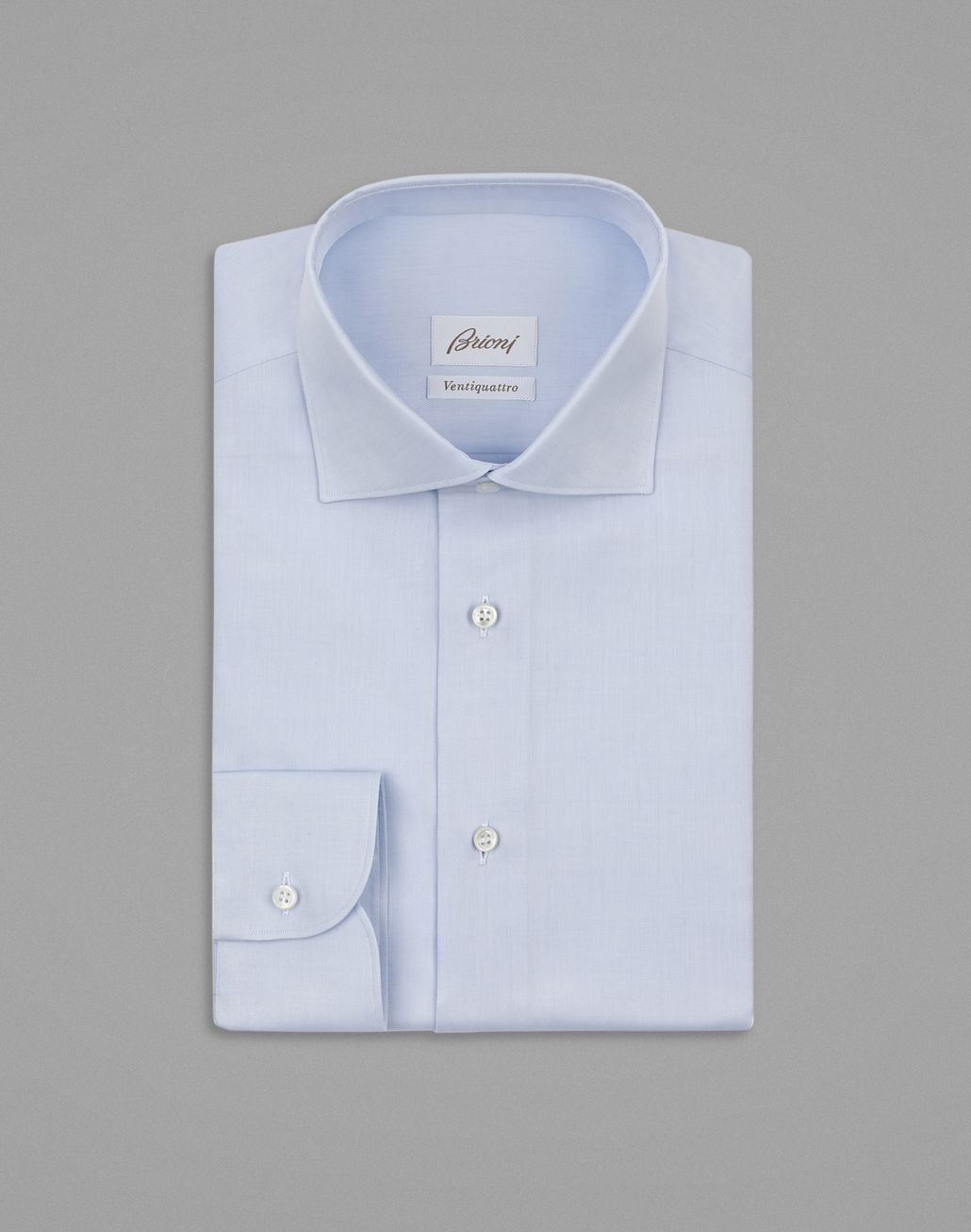 BRIONI Baby Blue Twill Formal Shirt Formal shirt Man f