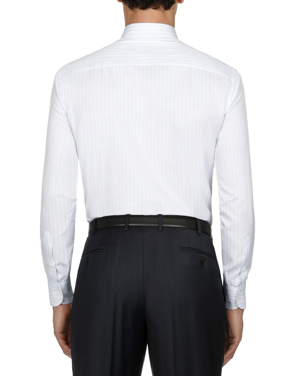 BRIONI Lead and White Striped Shirt Elegantes Hemd Herren d