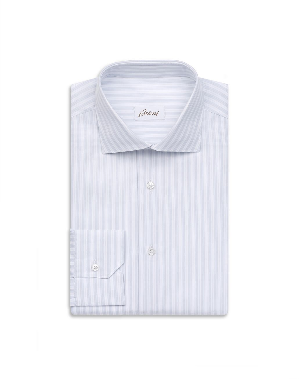 BRIONI Lead and White Striped Shirt Elegantes Hemd Herren f