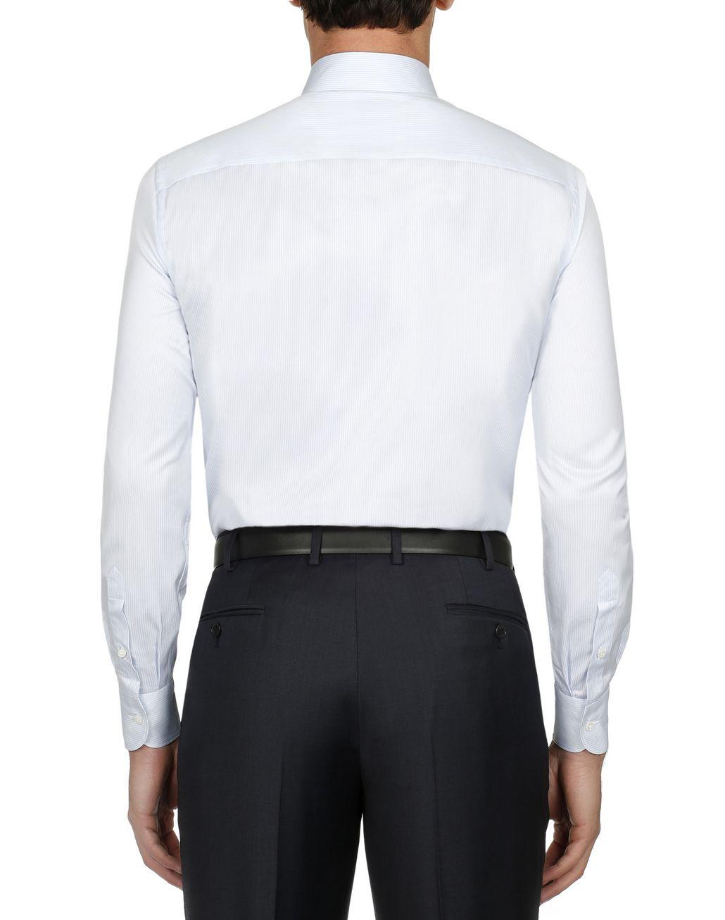 BRIONI Hemd mit Streifenmuster in Weiß und Himmelblau Elegantes Hemd [*** pickupInStoreShippingNotGuaranteed_info ***] d