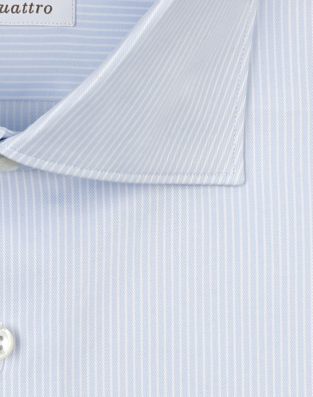 BRIONI White and Sky Blue Striped Shirt Formal shirt Man e