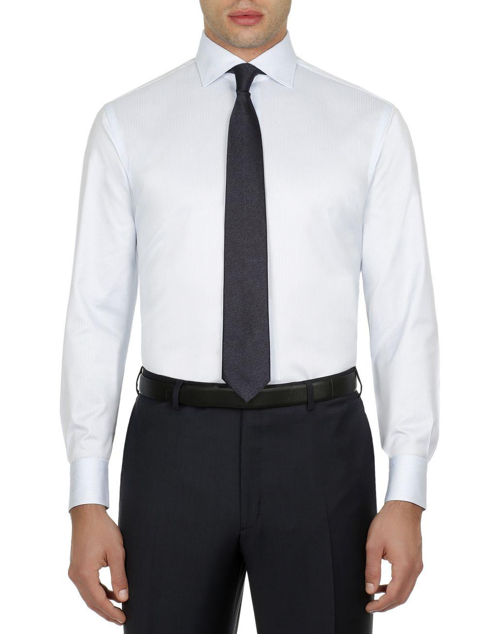 BRIONI Hemd mit Streifenmuster in Weiß und Himmelblau Elegantes Hemd [*** pickupInStoreShippingNotGuaranteed_info ***] r