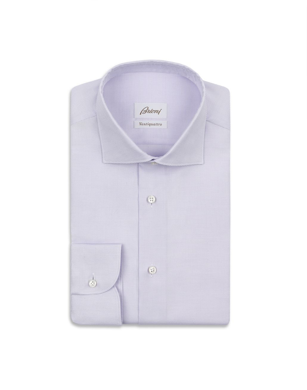 BRIONI Lilac Micro Design Formal Shirt Formal shirt Man f