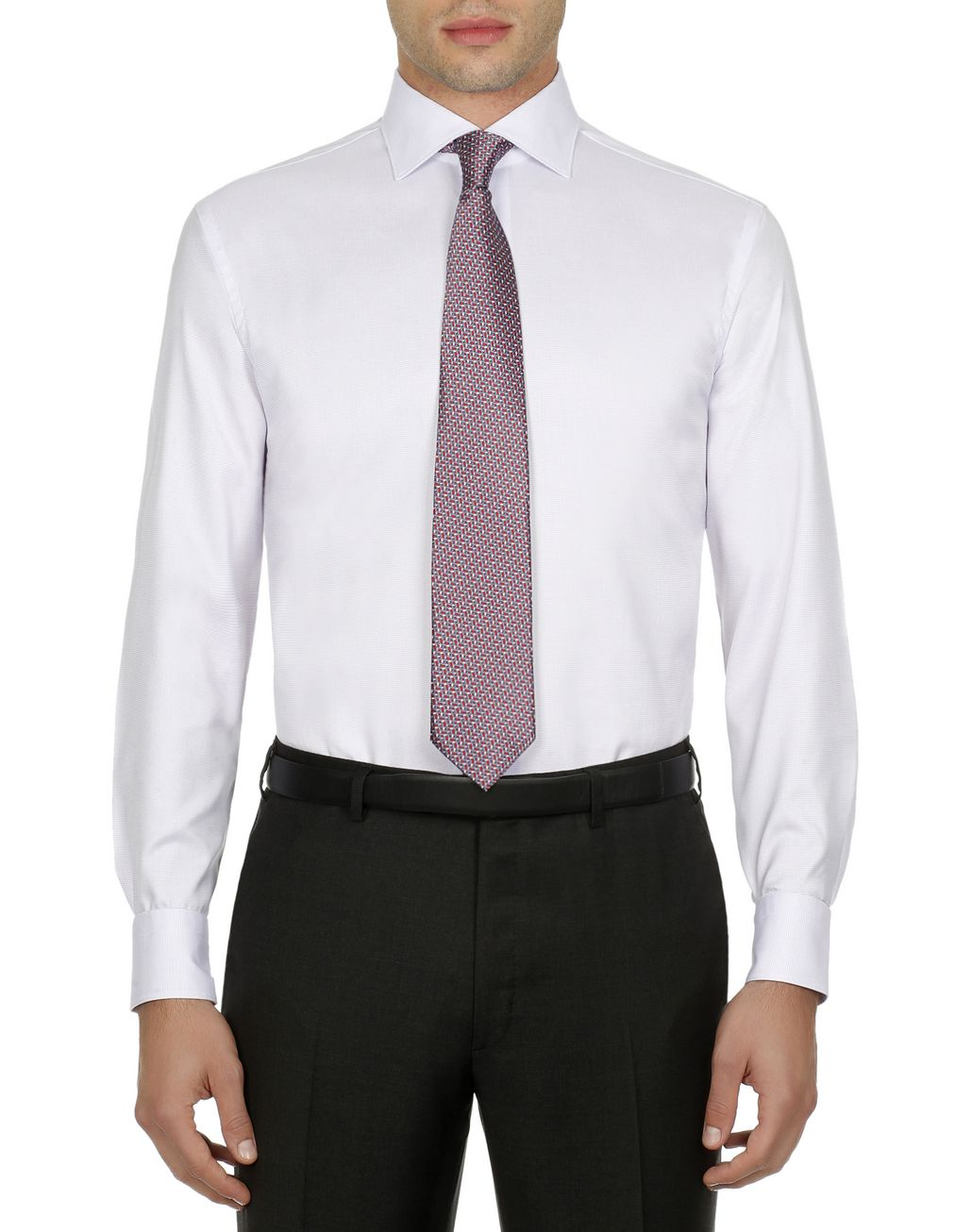 BRIONI Lilac Micro Design Formal Shirt Formal shirt Man r