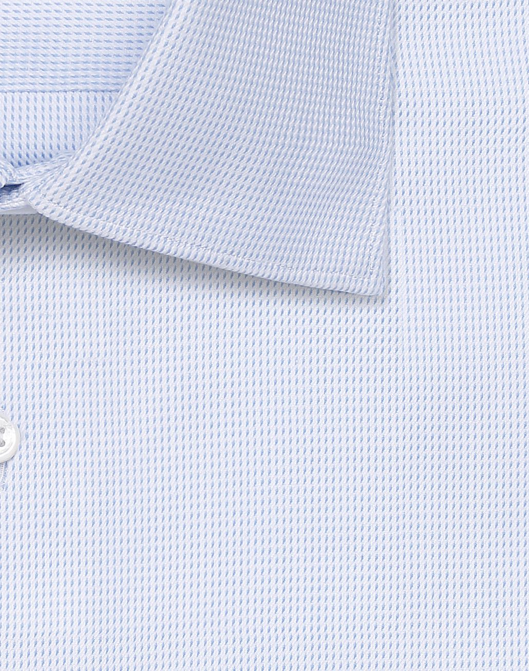 BRIONI White and Bluette Micro Checked Shirt Formal shirt Man e