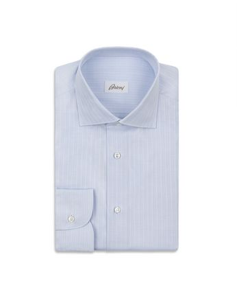 Sky Blue Striped Formal Shirt