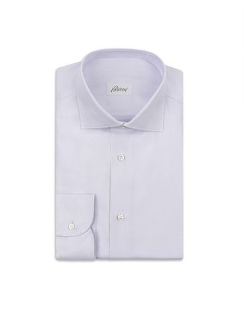 White and Liliac Micro Checked Shirt