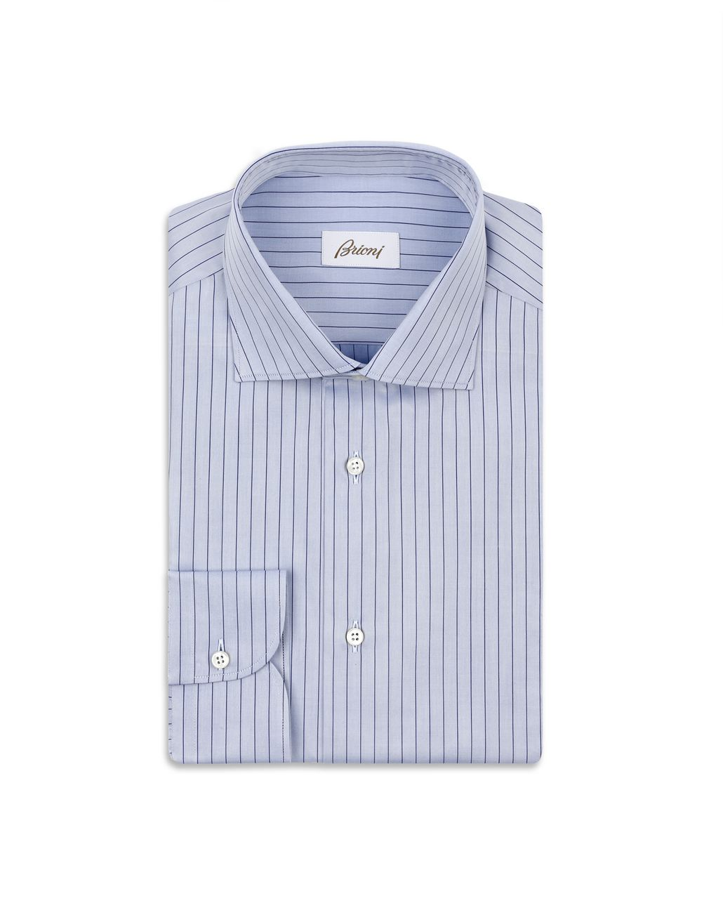 BRIONI Bluette Striped Formal Shirt Formal shirt Man f